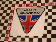 Made in Abingdon Chrome Sticker- MGB Midget MGA Magnette MGC GT TD TF TC Adesivo