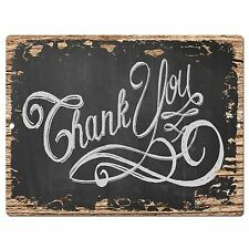 PP0403 Rust THANK YOU Sign Store Shop Bar Cafe Restaurant Home Kitchen Decor