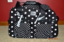 Victorias Secret Pink Polka Dot Luggage Wheelie Duffel Bag Suitcase Carrieon NWT
