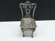 1900 DINING CHAIR Angel Seat Dublin Ireland Sterling Silver Dollhouse Miniature