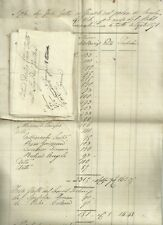 Manoscritto Nota dei Fossi Fatti per Piantare Viti per Nobiluomo Pancrazi 1871