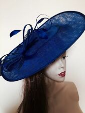 NEW Hatinator Cobalt Blue Wedding Hat Fascinator Saucer Formal Ladies Races