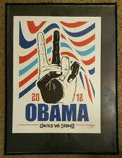 "Barrack Obama • Dave Kinsey: Presidential Election Poster 2012 ""United We Stand"""