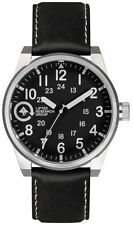 LRG Field & Research Silver/Black 40mm Steel Watch FIE-01011010-01 NIB