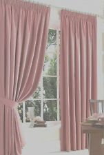 "COTTON SATIN LINED CURTAINS ,66""X108  "" in ROSE- BABY -CANDY-PINK  #KU181"