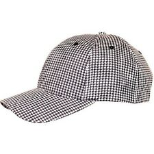 New Check Black / White Baseball Chef Cook Cap Hat