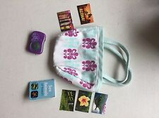 AMERICAN GIRL KANANI'S ACCESSORIES~CAMERA~TOTE~POSTCARDS RETIRED EUC!