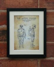 USA Patent Drawing STAR WARS TOY ACTION FIGURE Storn Trooper MOUNTED PRINT 1982