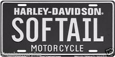harley davidson motorcycle black softail ride road king loud license plate tag