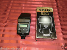 SUNPAK Power Zoom 4000af 4000 AF Strobo Flash Minolta Dynax analogico, GARANZIA