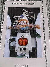 "HALLOWEEN FALL SCARECROW HANGING DECORATIONS PATTERN 7"" TALL DIANNA MARCUM"