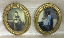 2 FINE AMERICAN CARVED GILT WOOD PAINTING FRAMES CIRCA 1870'S 9x7