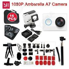 White Xiaomi Yi Helmet Action Camera DVR+16pcs Accessories Kits+Charger+Battery