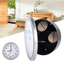 Silver New Wall Clock Safe With Secret Hidden Compartment Money Stash Jewellery