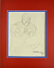 AMAZING SPIDER-MAN SKETCH PRINT PROFESSIONALLY MATTED Andrew Wildman
