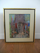 JoAnne Schneider Artist Signed Oil Painting Abstract Framed Vintage Rare