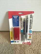 Pentel GRAPHGEAR 500 0.7mm Mechanical Drafting Pencil Design Pack Lead Eraser