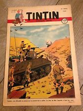 journal tintin Belge 13 (1949) couverture le Rallic RARE