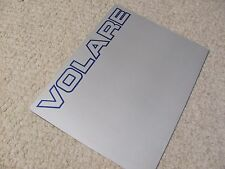 1984 MEXICAN CHRYSLER VOLARE SALES BROCHURE....rare