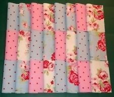 PATCHWORK FABRIC SQUARES CHARMS CATH KIDSTON ROSALI IKEA VINTAGE ROSE & SPOT