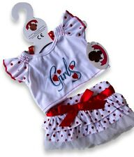 Teddy Bear Clothes fit Build a Bear Teddies Red Polka Dot GIRL Outfit Clothing