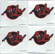 "AMAZING SPIDERMAN SET OF 4 TATTOOS NEW SEALED ALL THE SAME - MEASURES 2"" x 2"""
