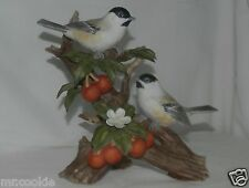 HOMCO Masterpiece Chickadee With Fruit Classic Porcelain 11164-02 2002