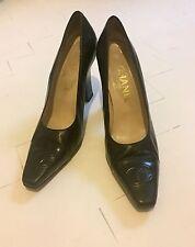 Coco Chanel CC Vintage Heels, Black, Size 6.5