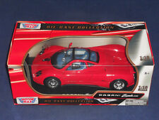 Motor Max 1:18 Die Cast Collection - PAGANI Zonda C12 - Red w/ Display Stand