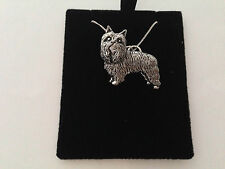 D6 Yorkshire Terrier on a 925 sterling silver Necklace Handmade 16 inch chain