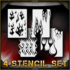 """Flame Set"" Airbrush Stencil Template Airsick"