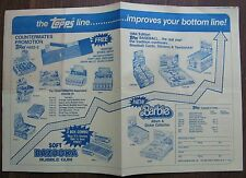1984 Topps Poster ADVERTISING FOR Baseball Cards,Barbie,Bazooka,Garbage Candy +