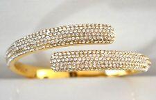 Michael Kors MKH3666710 Crystal Pave Hinge Bangle Bracelet New