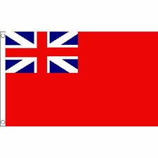 Naval Ensign Red Squadron Flag 5Ft X 3Ft Royal Navy Banner With 2 Eyelets New