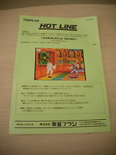 KNUCKLE BASH TOAPLAN ARCADE RARE ORIGINAL JAPAN HANDBILL FLYER CHIRASHI!