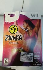 Zumba Fitness (Nintendo Wii, 2010) Complete with Fitness Belt Rated E Everyone
