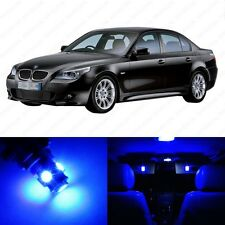 17 x Blue LED Interior Light Package For 2004 -2010 BMW 5 Series M5 E60 E61