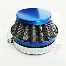 49/60/80cc 2-Stroke Pocket Quad Dirt Bike Steel Pod Air Filter Cleaner 60mm Blue