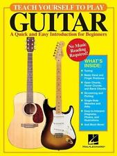 Hal Leonard Teach Yourself HOW to Play Guitar Musical Lesson instruction Book