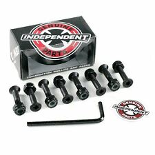 "Independent Indy Combi Skate Bolts Black 1"" 4 Allen Head & 4 Phillips Head New"