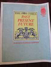 THE TIMES PAST PRESENT AND FUTURE - 200 YEARS OF THE TIMES NEWSPAPER 1980'S