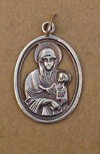 Rarità-Pellegrini MEDAGLIONE-bellissima madre Dio rimorchio - (ak43)