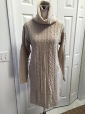 Hugo Buscati Milano Beige Lambs Wool Angora Sweater Dress Medium