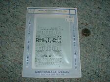 Microscale Decals N 60-702 P and LE Covered hoppers 1960+  C100