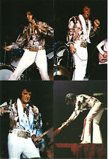 Elvis Presley 8 Photo Set in Paisley Shirt with White Pants 4/72 & FREE  CD!