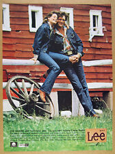 1978 Lee Riders Blue Jeans denim Jean Jacket man woman photo vintage print Ad