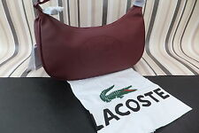 LACOSTE Genuine Stunning Burgandy RESEDA Shoulder Hand Bag BNWT
