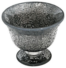 Black Mosaic Glass Bowl / Vase Candle Holder Candle Display for Floating Candles
