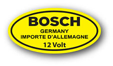 Vintage VW YELLOW 12 Volt Bosch Coil DECAL STICKER VOLKSWAGEN BEETLE GHIA TYPE 1
