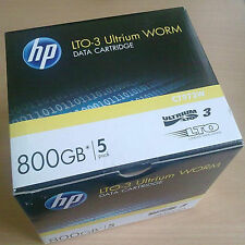 5x HP lto3 ultrium Worm. data Cartridge. 800gb. c7973w